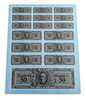 Cigar Box Tax Stamp Decal Sheet - 16 separate decals in 3 sizes