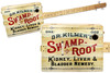"""""""Swamp Root"""" 3-string Illustrated Cigar Box Guitar - Featuring a Vintage Patent Medicine Design!"""