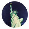 """Lady Liberty"" ResoDisk Box Topper for Cigar Box Guitars"