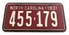 4pc. Southern Music Mini License Plate Pickguard Set