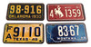 "4pc. ""Cowboy States"" Mini License Plate Pickguard Set"