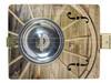 The Wagon Wheel Hubcap Resonator Cigar box Guitar