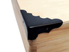 24pc. Matte Black Box Corners (Straight Back)