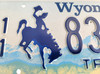 Wyoming Cowboy/Rodeo 1990's Truck License Plate