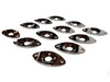 12-pack Chrome Curved Ovoid Jack Plates