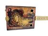 """The Steampunker"" 3-string Illustrated Cigar Box Guitar - Beautiful Original Design"