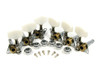 Chrome Open-Gear Economy Tuners/Machine Heads - 6pc. 3 left/3right