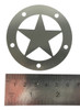 """Cigar Box Guitar Soundhole Cover - Stainless Steel """"Lone Star"""" Design"""