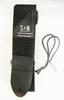Black Nylon Guitar/Cigar Box Guitar Strap with Pick Pocket