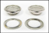 12pc. 15mm Shiny Nickel Screened Grommets