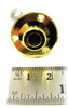 6pc. Gold Screw-Mount Stereo Endpin Strap Button Jacks