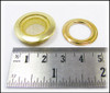 12pc 1-inch Shiny Brass Screened Grommets
