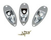 3-pack Chrome Recessed Jack Plates w/mounting screws