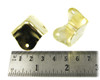 8pc. Square Brass-plated Box Corners