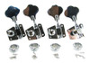 Chrome Bass Guitar /Diddley Bow Tuners - 4pc. Inline Right-aligned