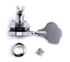 Single Chrome Bass Guitar/Diddley Bow Tuner - Right Aligned