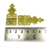 2pc. Brass-plated Gothic-Style Hinges