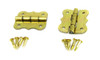2pc. Small Brass-plated Butterfly Hinges with Brads