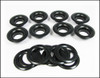 8pc. #5 (9/16-inch inner diameter) Black Grommets and Washers
