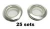 25pc 1-inch Screened Nickel Grommets