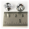 3pc. Chrome Strap Buttons with Screws