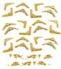 24pc. Low-Profile Brass-plated Box Corners