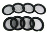 8pc. Black Screened Sound Hole Inserts