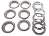 6-pack Large (1.5-inch) Gun Metal Grommets w/Washers