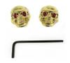 Voodoo Skull Knobs - Set of 8 - Gold w/ jewel eyes