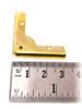 8pc. Low-Profile Brass-plated Box Corners