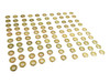 100pc 1-inch Shiny Brass Screened Grommets