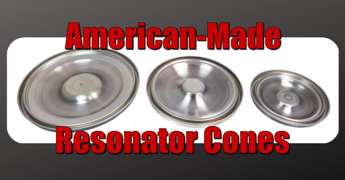 American-Made Reso Cones for Cigar Box Guitars & More