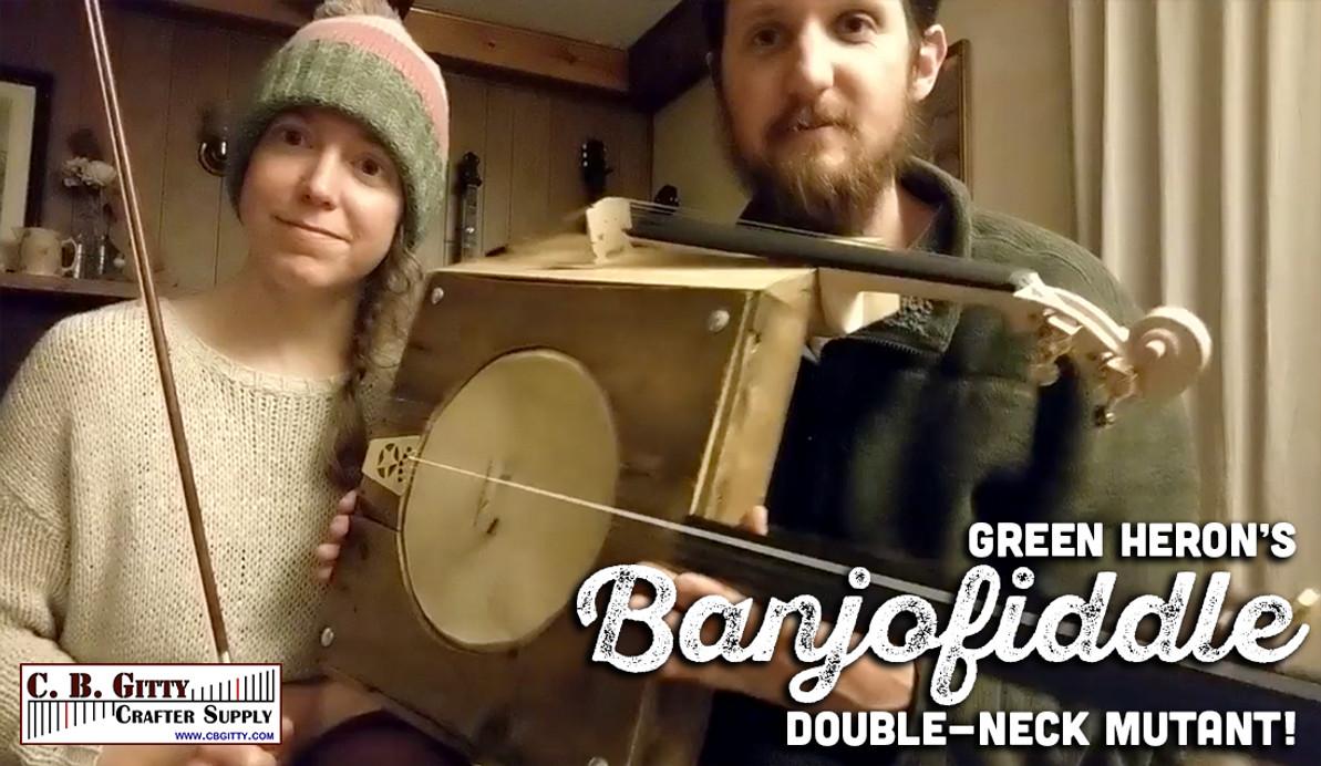 [Video & Photos] Green Heron's Banjofiddle Mutant Instrument