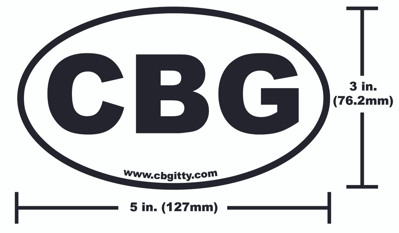 1pc  3 X 5-inch Vinyl Cbg Oval Bumper Sticker