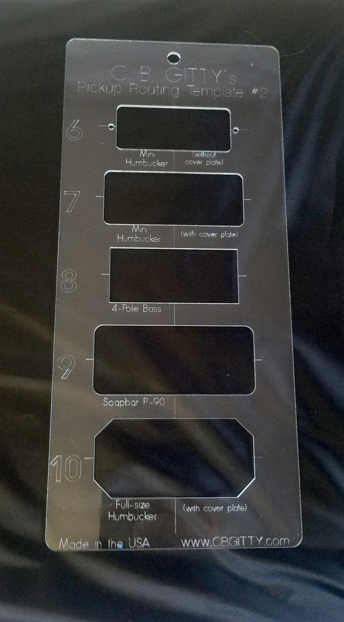 2pc Electric Guitar Pickup Routing Template Set Includes 10 Total