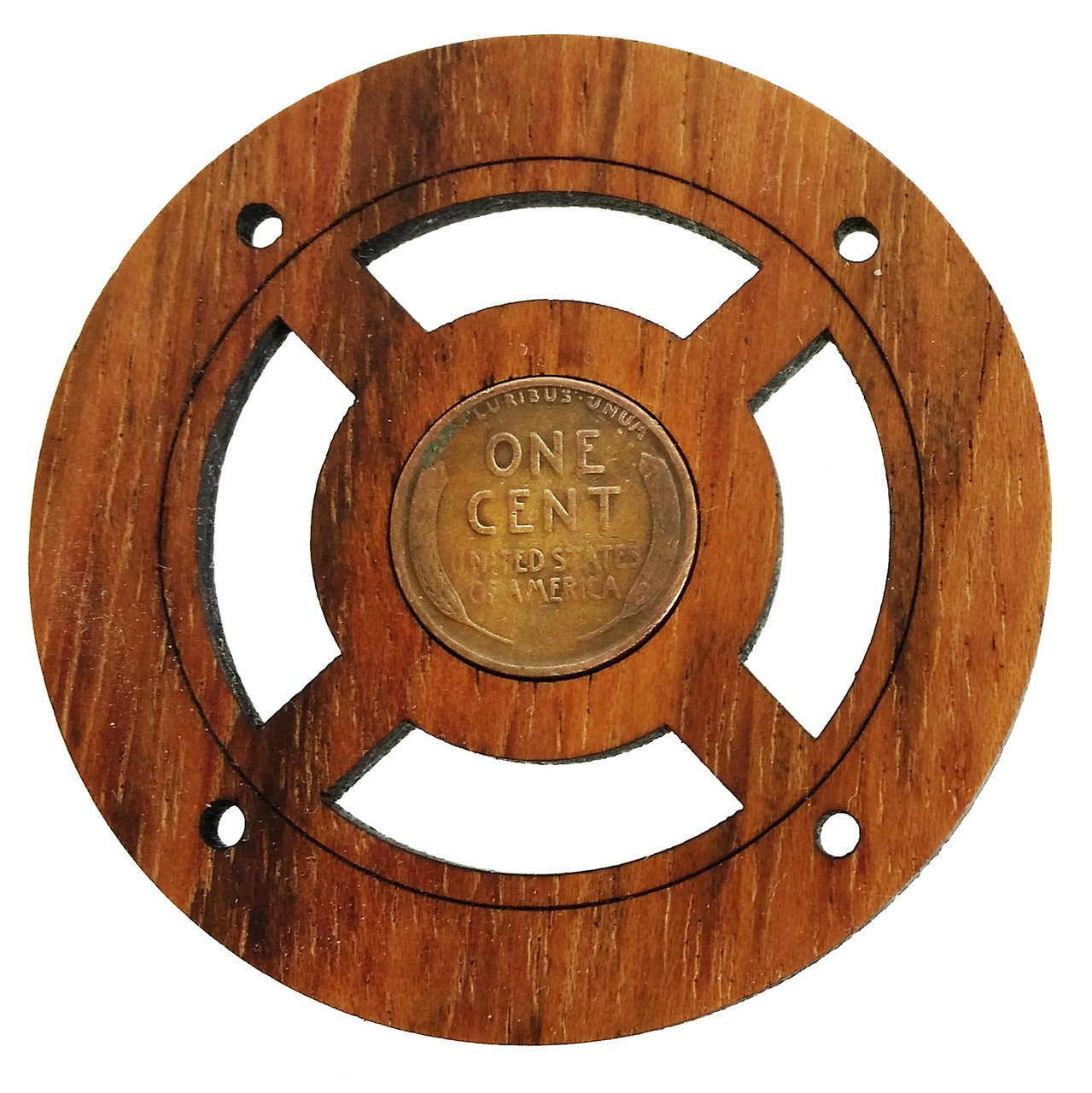 Wheat Penny Vintage Coin Sound Hole Cover For Cigar Box Guitars