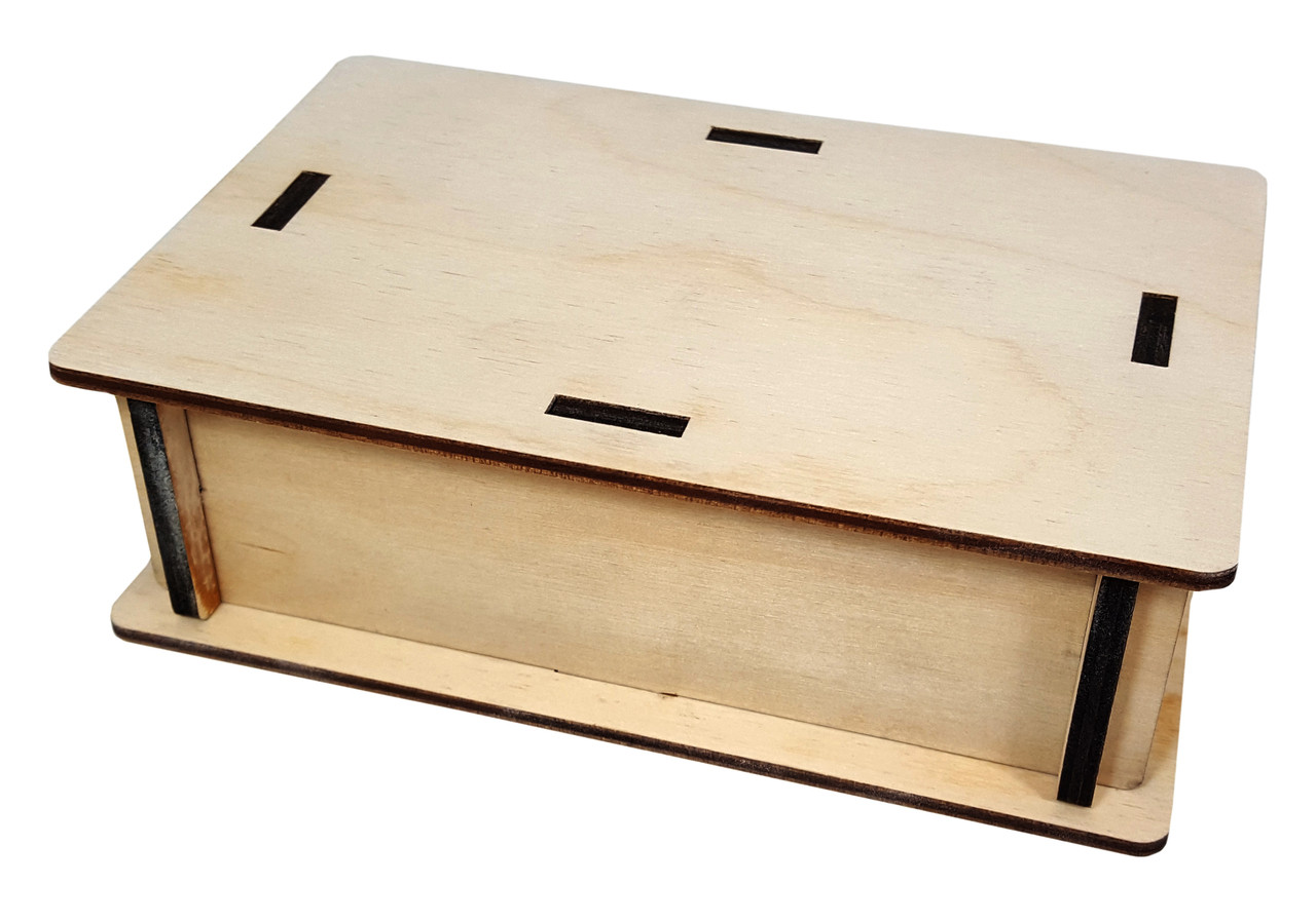 Pedal Size Diy Wooden Box Enclosure Kit 4 X 6 X 2 Easy To Assemble