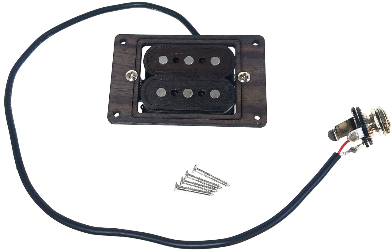 3 Poliges Pickup Set Ausgangsbuchse Für 3String Cigar Box Guitar Instrument Accs