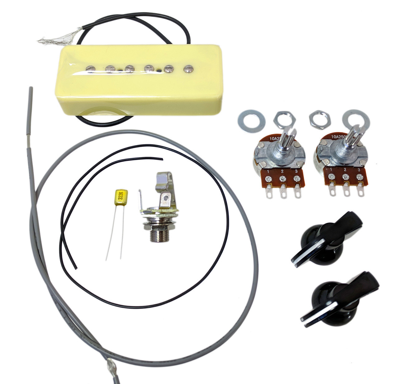 Soap Bar P-90 DIY Pickup Harness Wiring Kit Wall Wire Harness Kit on
