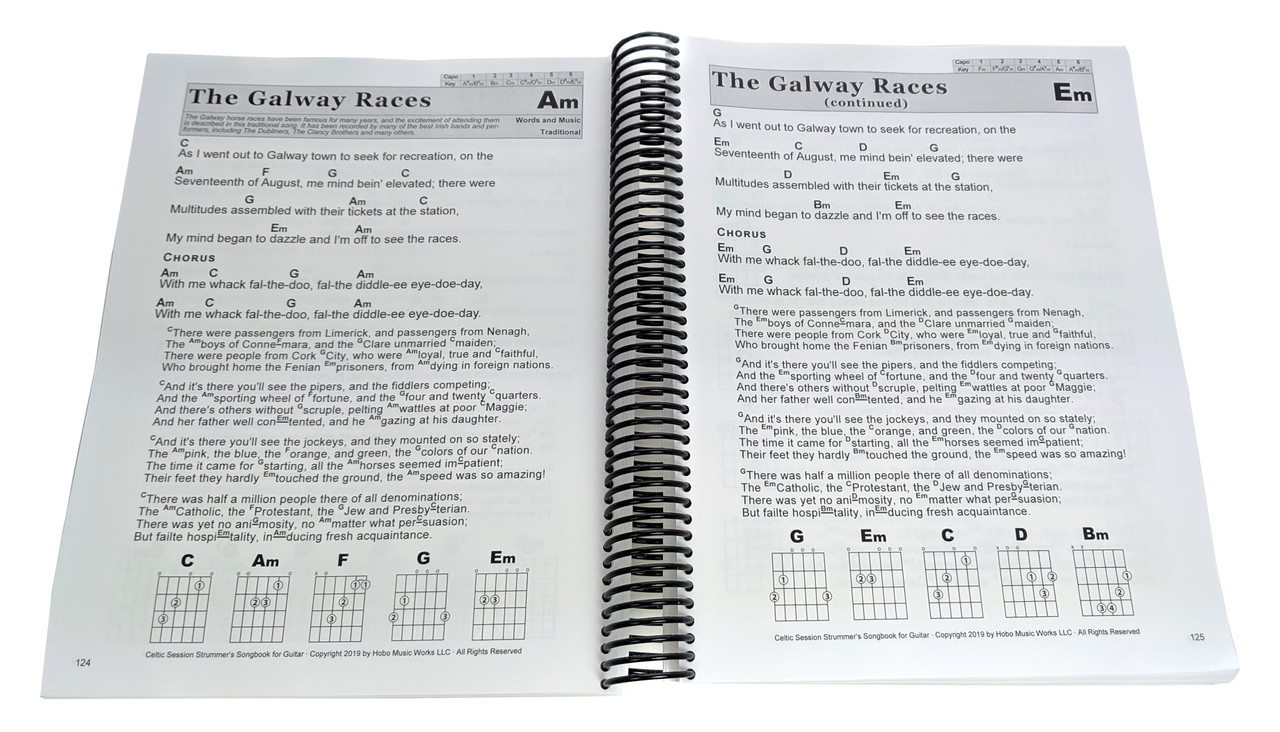 Celtic Session Songbook for Voice & Guitar - 170 songs with Large Print  Lyrics and Chords