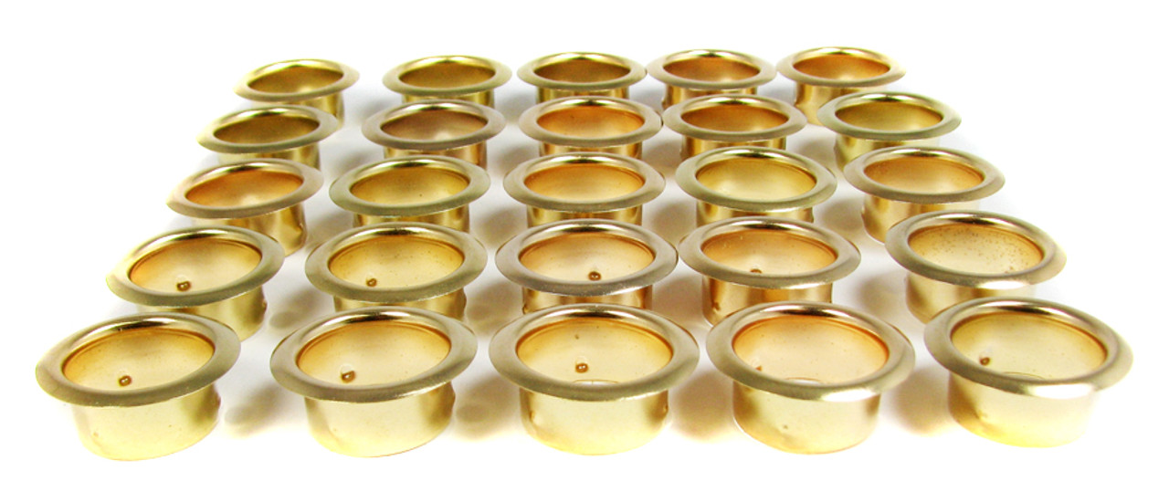Bulk Pack 7//8 Brass Grommets//Candle Cups 100pc