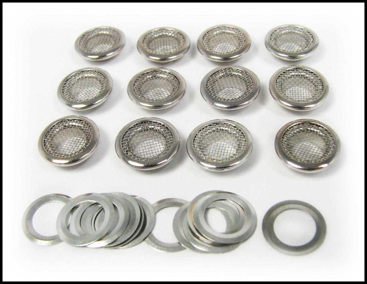 Cigar Box Guitar Parts 25pc 15mm Screened Nickel Grommets /& Washers