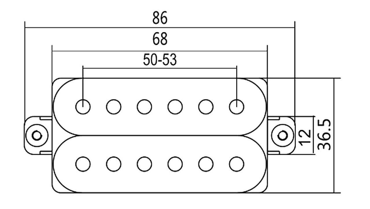 black strat tm style humbucker set neck and bridge matched pair c b gitty crafter supply