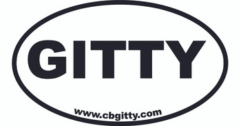 1pc. 3 x 5-inch Vinyl GITTY Oval Bumper Sticker