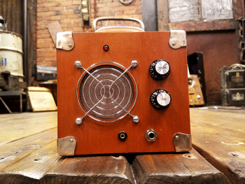 Cigar Box Guitar Dual-Input Amplifier - Solid Wood Acid Box (Model #5)