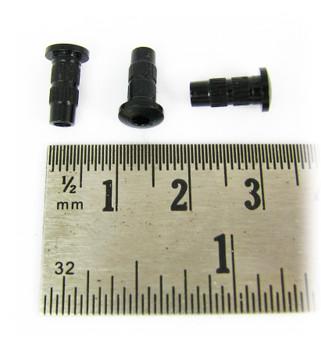 12pc. Black Narrow String Ferrules