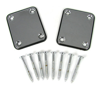 2pc. Chrome Electric Guitar Neck Attachment Plates