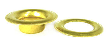 48pc. 9/16-inch (#5) Brass Grommets with Washers