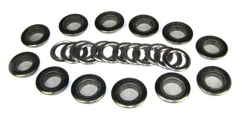 12pc. 1-inch Black Screened Grommets