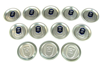 100pc. BULK PACK Aluminum Can Top Sound Hole Covers